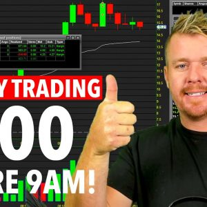 LIVE DAY TRADING! SMALL CAP MADNESS IS BACKK! $900