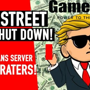 WallStreet Bets Banned! $GME Craters! ITS BAD!