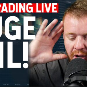 DAY TRADING LIVE! HUGE FAIL AND LOSS...
