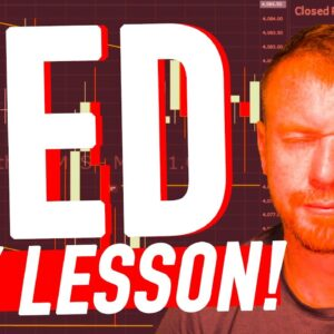 DAY TRADING RED DAY LESSON!