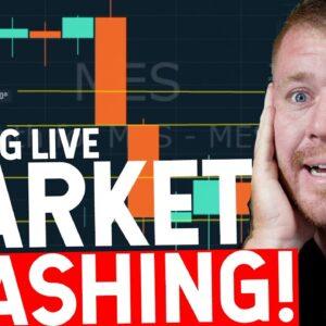 DAY TRADING LIVE STOCK MARKET CRASHING! WE GREEN!