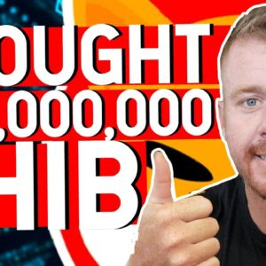 I Bought 100 Million Shiba Inu Tokens! NOW WHAT?