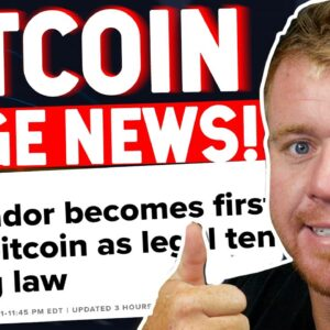 Bitcoin Becomes Legal Tender In El Salvador! HUGE NEWS!