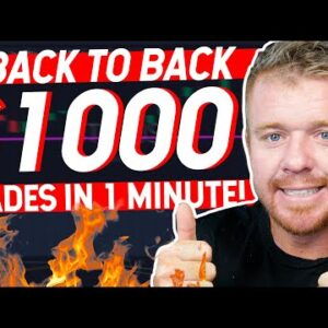 DAY TRADING BACK TO BACK $1000 IN 1 MINUTE!