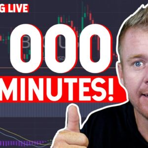 Making $1000 Day Trading In 2 MINUTES! Buying The Dip!
