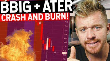 BBIG + ATER Stock Fail! Crashing Down Momentum Gone!